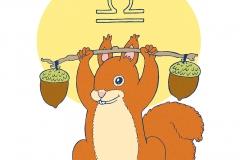 Sternzeichen-Waage-Eichhörnchen